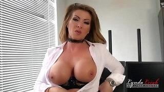 British office milf lynda leigh tights undress tease to show wet crack