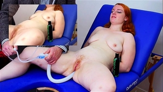 Miss fi takes a massive enema with the hard colon snake