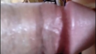 Nasty cum discharged from a micro dong fucking bawdy cleft and booty of a sex toy