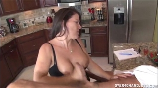 Jerking the old chap in the kitchen