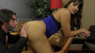 Mercedes carrera makes her lawyer take up with the tongue her gazoo