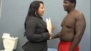 Latina lawyer bonks her dark chap in his cell