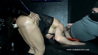 Muscle milf is used hard in danish sexclub