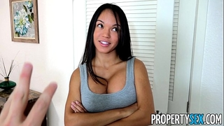 Propertysex - panty sniffing landlord copulates hawt latin babe tenant with large weenie