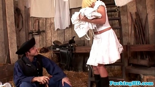 Euro hottie dirty slut wife craves farmers cock in wazoo