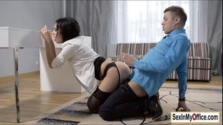 Sheri acquires a quickie and cum from boss