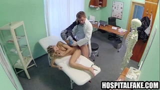 Pint sized golden-haired patient screwed by hers in swap for a precious hard fucking 720