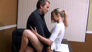 Small tits babe quickie fuck with daddy