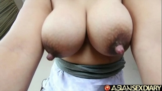 Asian sex diary - cute corpulent filipina milf with big ol' milk shakes