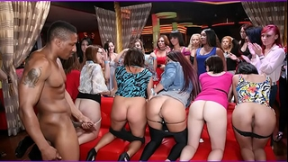 Dancing bear - this night club is on fire! gals engulfing wang all over the place