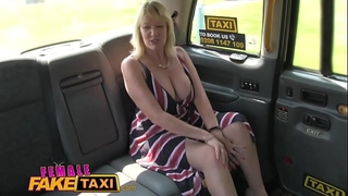 Female fake taxi blond milf cums on hawt redheads tongue