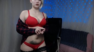Russian large love bubbles femdom-goddess pumps milk and fingering snatch until squirting