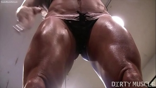 Naked female bodybuilder ashlee chambers hot workout